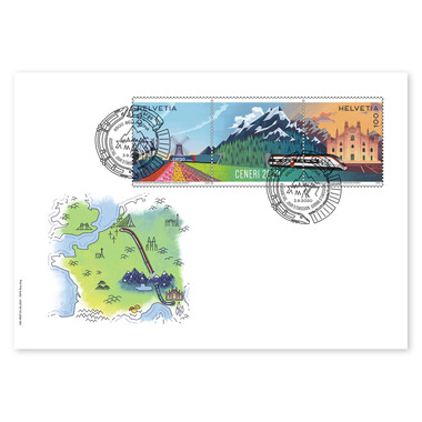 Ceneri 2020, First-day cover Set (2 stamps, postage value CHF 2.00) on first-day cover (FDC) C6