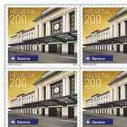 Stamps CHF 2.00 «Genf», Sheet with 10 stamps Sheet Swiss railway stations, self-adhesive, mint