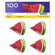 Summer, Sheet «Watermelon» Sheet with 10 stamps «Watermelon» of CHF 1.00, self-adhesive, mint