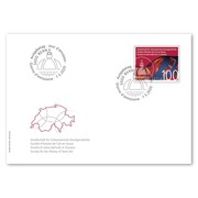 Society for the History of Swiss Art, First-day cover Single stamp (1 stamp, postage value CHF 1.00) on 1 first-day cover (FDC) C6