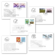 2019 Year set covers of exhibitions C6 Year set of 5 C6 covers from the Essen, Sindelfingen, Paris, Luxembourg and Verona stamp fairs
