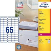 AVERY ZW. Mailing labels 38,1x21,2mm L7651 - 100 6500 pcs.