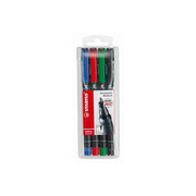 STABILO OHP Pen permanent 1mm 843 / 4 4 pcs., case