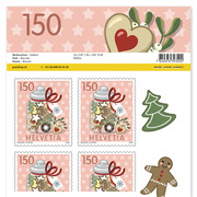 Stamps CHF 1.50 «Biscuits», Sheet with 10 stamps Sheet Christmas, self-adhesive, mint