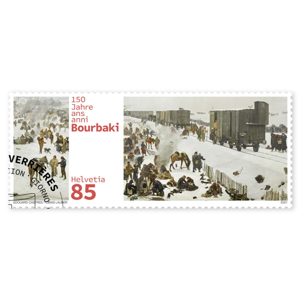瑞士3月4日发行布尔巴基军队战败150周年邮票