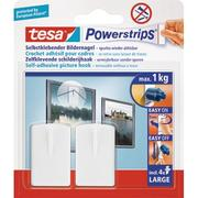 TESA Powerstrips Picture hook 580310002 white, capacity 1kg 2 pieces