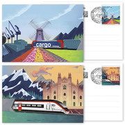 Ceneri 2020, Set of postal cards <p>Set of 2 postal cards, postage value CHF 1.00 each and CHF 2.00 for the cards, cancelled</p>