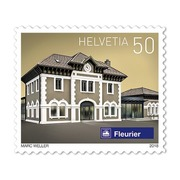 Swiss railway stations, Roll «Fleurier» Roll with 2'000 stamps «Fleurier NE» of CHF 0.50, self-adhesive, mint