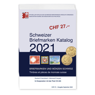 Catalogue des timbres de l'Association suisse des négociants en philatélie, français/allemand Catalogue des timbres suisses 2021 (al/fr)