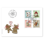 Christmas – wintry moments, First-day cover Set (4 stamps, postage value CHF 5.35) on first day cover (FDC) C6