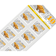 Mushrooms, Sheet «Chanterelle mushroom» Sheet with 10 stamps «Chanterelle» of CHF 0.10, self-adhesive, mint