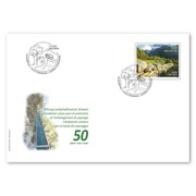 Swiss Foundation for Landscape Conservation, First-day cover Single stamp (1 stamp, postage value CHF 1.00) on 1 first-day cover (FDC) C6