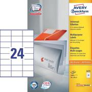 AVERY ZW. Labels 70x36mm 3475 Universal, white 100sh. / 24pcs.