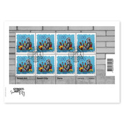Street-Art «Zaira», First-day cover Miniature sheet «Zaira» (8 stamps, postage value CHF 10.00) on first-day cover (FDC) C5