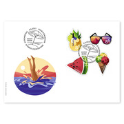Summer, First-day cover Set (4 stamps, postage value CHF 3.70) on first day cover (FDC) C6