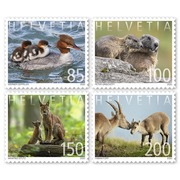 Animal families, Set Set (4 stamps, postage value CHF 5.35), self-adhesive, mint