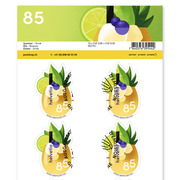 Summer, Sheet «Drink» Sheet with 10 stamps «Drink» of CHF 0.85, self-adhesive, cancelled
