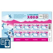Winter Youth Olympic Games 2020, Sheetlet Sheetlet with 8 stamps of CHF 1.00, gummed, mint